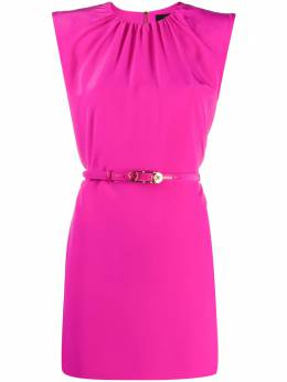 Versace padded-shoulder belted mini-dress A87303A230861