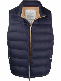 Brunello Cucinelli zipped padded gilet MR4051714CC993