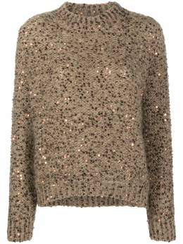 Brunello Cucinelli sequin embroidered jumper MAA379704CD670