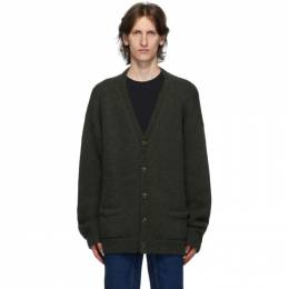 Vetements Green Five Button Cardigan UAH21KN044