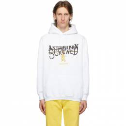Vetements White Antwerpen Screwed Hoodie UAH21TR536