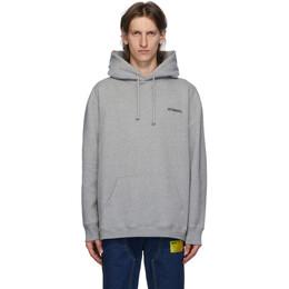 Vetements Grey Logo Hoodie UAH21TR535
