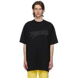 Vetements Black Hip Hop Script T-Shirt UAH21TR516