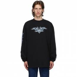 Vetements Black Embroidered Long Sleeve T-Shirt UAH21TR627