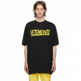 Vetements Black World Tour T-Shirt UAH21TR618