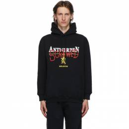 Vetements Black Antwerpen Screwed Hoodie UAH21TR536