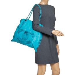 Chanel Turquoise Leather Disc Bon Bon Bag 303554