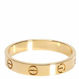 Cartier Love Wedding 18K Yellow Gold Ring Size 61 303831