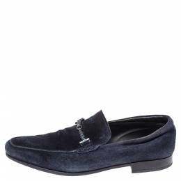 Tod's Blue Suede Braided Bit Loafers Size 42 Tod's 303620