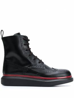Alexander McQueen Hybrid lace-up boots 625193WHX5F