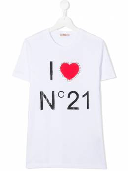 No.21 Kids TEEN logo print T-shirt N214E6TN0080