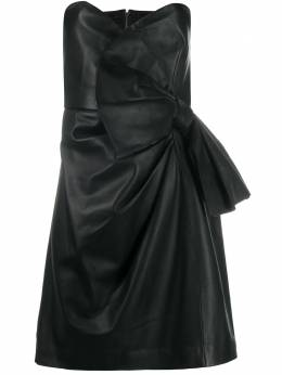 Red Valentino strapless leather dress UR3ND00P5BW