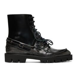 Maison Margiela Black Leather Lace-Up Boots S57WU0217 P3116