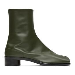 Maison Margiela Green Low Heel Tabi Boots S57WU0153 PR516 T7170