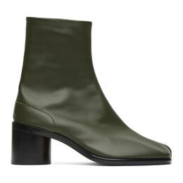 Maison Margiela Green Mid Heel Tabi Boots S57WU0132 PR516 T7170
