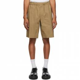Helmut Lang Tan Pull-On Shorts K05HM204