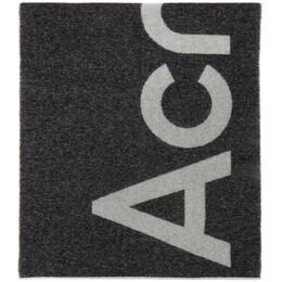 Acne Studios Black Logo Scarf CA0104-