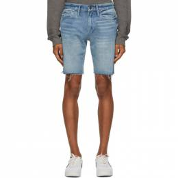 Frame Blue LHomme Relaxed Cut-Off Shorts LMHCSR439