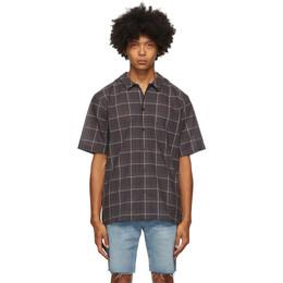 Frame Grey Camp Collar Short Sleeve Shirt LMSH0233
