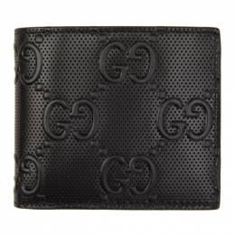 Gucci Black Gucci Signature Coin Wallet 625555 1W3AN