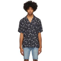 Frame Black Camp Collar Short Sleeve Shirt LMSH0240