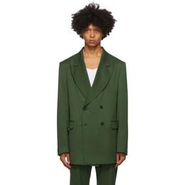 Han Kjobenhavn Green Boxy Double-Breasted Blazer M-130180