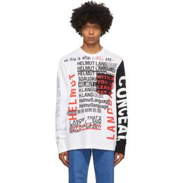 Helmut Lang White Willie Norris Edition Long Sleeve T-Shirt K05DM526