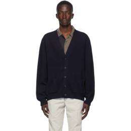 Maison Margiela Navy Wool Gauge 14 Cardigan S50HA0966 S17373