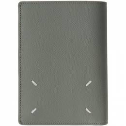 Maison Margiela Grey Leather Trifold Wallet S35UI0430 P0399