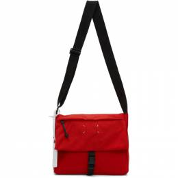 Maison Margiela Red 4-Stitches Flap Cross-Body Bag S55WG0114 PR253