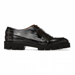 Maison Margiela Black and Grey Spliced Moccasin Loafers S57WR0108 P3116