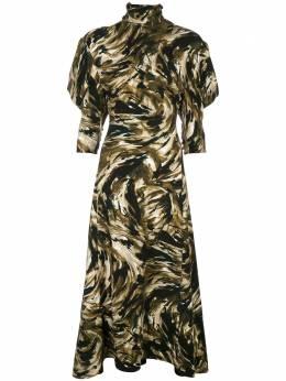 Proenza Schouler платье с принтом и драпировкой на рукавах R2033048BYP99
