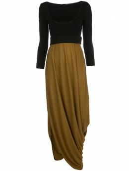 Proenza Schouler платье с U-образным вырезом и драпировкой R2033031JY068