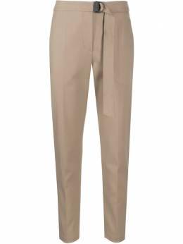Brunello Cucinelli брюки прямого кроя с поясом MA126P7227C9456