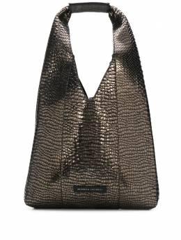 Brunello Cucinelli сумка-хобо с тиснением под кожу крокодила MBPPD2186C101