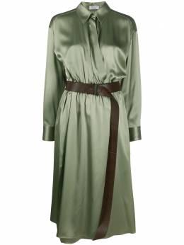 Brunello Cucinelli платье-рубашка с запахом MH142A4639C7935