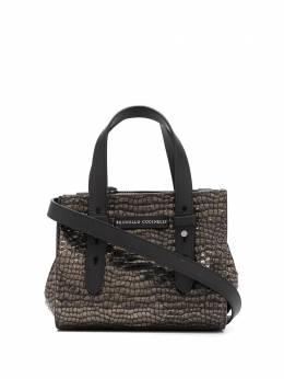 Brunello Cucinelli сумка-тоут с тиснением под кожу крокодила MBPPD2178C101