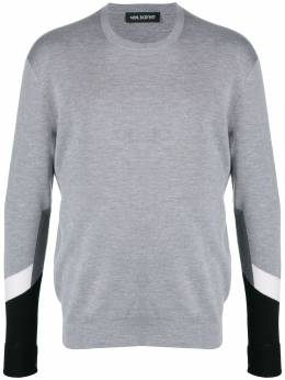 Neil Barrett panelled knitted jumper PBMA1099CP617C