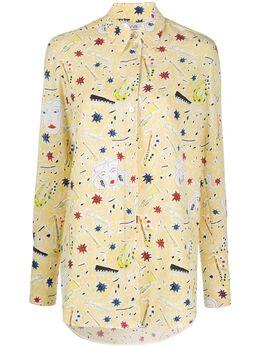 Victoria, Victoria Beckham рубашка с принтом Jazzy Dream 2320WSH001389B