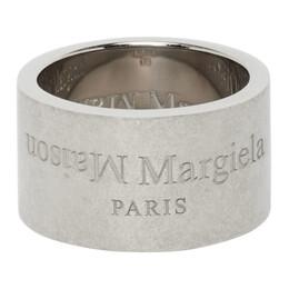 Maison Margiela Silver Wide Logo Ring SM1UQ0003 S12698