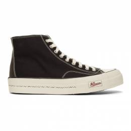 Visvim Black Skagway High-Top Sneakers 0120101001004