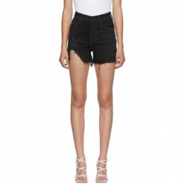 Agolde Black Dee Ultra High Rise Shorts A083-998