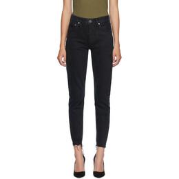 Agolde Black Jamie High-Rise Classic Jeans A045C-1139