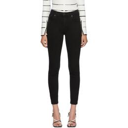 Agolde Black Sophie Mid-Rise Jeans A123-1158