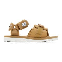 Suicoke Brown maharishi Edition Kuno Flat Sandals OG-212/KUNO-NS