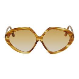 Victoria Beckham Brown Oversized Round Sunglasses VB614S 886895465588