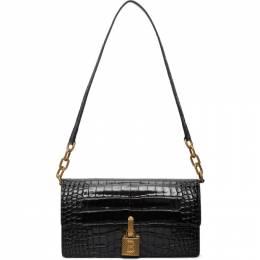 Balenciaga Black Croc Medium Lock Bag 623292-1LRTM