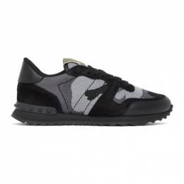 Valentino Black and Grey Valentino Garavani Rockrunner Sneakers UY2S0723QRK