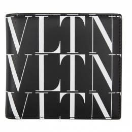 Valentino Black Valentino Garavani VLTN All Over Wallet UY2P0654GTC