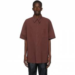 Our Legacy Burgundy Borrowed Short Sleeve Shirt M3202BS